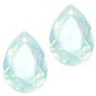1 Tropfen facetiert 14x10x7mm (LxBxH) - opal rose cyclamen