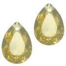 1 Tropfen facetiert 14x10x7mm (LxBxH) - opal khaki