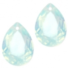 1 Tropfen facetiert 14x10x7mm (LxBxH) - opal lt blue turquoise
