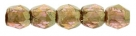 #02.01 50 Stück - 2,0 mm Glasschliffperlen - tr. topaz/rosé gold