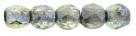 #05.04 50 Stück - 2,0 mm Glasschliffperlen - crystal luster/tr green