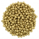 #77.00 - 50 Stck. Perlen Ø 2 mm rund - matte metallic flax