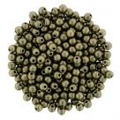 #78.05 - 50 Stck. Perlen Ø 2 mm rund - metallic suede - gold