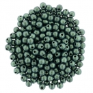 #78.03 - 50 Stck. Perlen Ø 2 mm rund - metallic suede - lt green