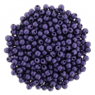 #78 - 50 Stck. Perlen Ø 2 mm rund - metallic suede - purple