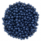 #78.01 - 50 Stck. Perlen Ø 2 mm rund - metallic suede - blue