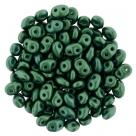 #108.04 10g SuperDuo-Beads Gold Shine Emerald