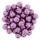 #50.05 25 Stück Perlen rund Top Hole - Satin Metallic Magenta - Ø 6 mm