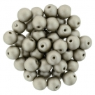 #50.02 25 Stück Perlen rund Top Hole - Satin Metallic Sand - Ø 6 mm
