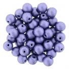 #50.04 25 Stück Perlen rund Top Hole - Satin Metallic Lavender - Ø 6 mm