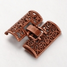 Fold Over Uhrenverschluss - 28x26x5 mm antique copper