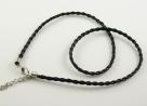 1 Stück Halskette Lederimitat - schwarz