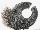 1 Stück Halskette Kautschuk - schwarz