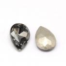 1 Glas-Tropfen Ø 25x18x8 mm - black diamond