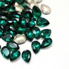 1 Glas-Tropfen Ø 25x18x8 mm - emerald