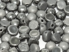 #35 25 Stck. 2-Hole Cabochon 6mm Crystal Etched Chrome Full