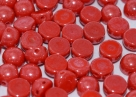 #41 25 Stck. 2-Hole Cabochon 6mm Red Shimmer