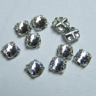 Swarovski® crystals -  Rose Montées (SS12) -  crystal - silver-plated (53100),