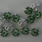 Swarovski® crystals -  Rose Montées (SS16) -   peridot - silver-plated (53102),