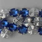 Swarovski® crystals -  Rose Montées (SS16) - sapphire - silver-plated (53102),