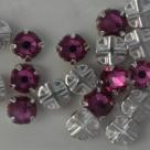Swarovski® crystals -  Rose Montées (SS16) - fuchsia - silver-plated (53102),
