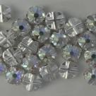 Swarovski® crystals -  Rose Montées (SS16) - Crystal AB - silver-plated (53102),
