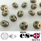 50 Stück - Es-O Mini  4mm - alabaster pastel lt brown
