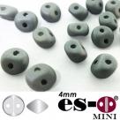 50 Stück - Es-O Mini  4mm - alabaster pastel matt grey