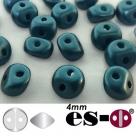 50 Stück - Es-O Mini  4mm - alabaster pastel petrol
