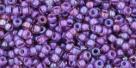 10 g TOHO Seed Beads 11/0 TR-11-0928 - Inside-Color Rainbow Rosaline/Opaque Purple (E)