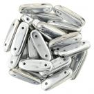 1 Strang 2-Hole Bar 15x5mm - Crystal Labrador Full