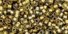 10 g TOHO Takumi Large Hole Seed Bead TTR-11-0262 - Inside Color Crystal/Gold Lined