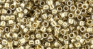 10 g TOHO Takumi Large Hole Seed Bead TTR-11-0989 - Gold-Lined Crystal
