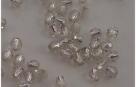 #02.00 50 Stück - 3,0 mm Glasschliffperlen - Crystal silver lined