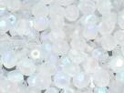 #45.3 50 Stück - 4,0 mm Glasschliffperlen - matte crystal AB
