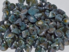 #45.01 50 Stck. Button Beads 4mm Chalk White Blue Luster