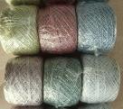 10 Gramm Lurexgarn  - weiß silber