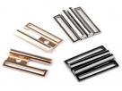 1 Gürtelschließe Metall platinumfarben 40x55mm