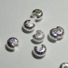 10 Stück Klappkugel ø 5 mm - silber - diamantiert
