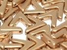 5 Stück AVA Beads 10x4 mm - Alabaster Aztec Gold
