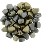 #01.01 - 25 Stck. NIB-BIT-Beads 6x5mm - Matte - Metallic Leather