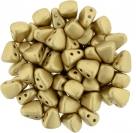 #01.02 - 25 Stck. NIB-BIT-Beads 6x5mm - Matte - Metallic Flax