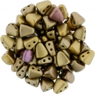#01.00 - 25 Stck. NIB-BIT-Beads 6x5mm - Matte - Metallic Gold Iris