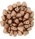 #01.03 - 25 Stck. NIB-BIT-Beads 6x5mm - Matte - Metallic Copper