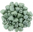 #02.03 - 25 Stck. NIB-BIT-Beads 6x5mm - White Luster - Green