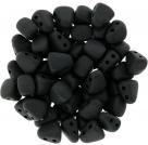 #03.01- 25 Stck. NIB-BIT-Beads 6x5mm - Jet Matte