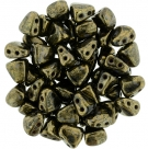 #03.03 - 25 Stck. NIB-BIT-Beads 6x5mm - Jet Bronze Picasso