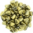 #03.05 - 25 Stck. NIB-BIT-Beads 6x5mm - Jet Polished Brass