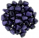#05.00 - 25 Stck. NIB-BIT-Beads 6x5mm - Metalust - Purple