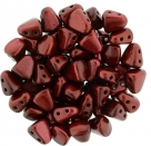#05.02 - 25 Stck. NIB-BIT-Beads 6x5mm - Metalust - Lipstick Red